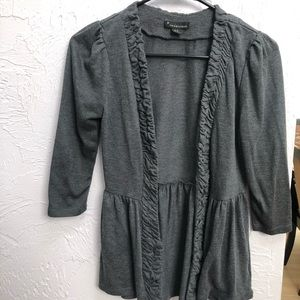 Gray open cardigan